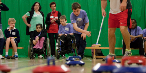 Children wheelchair curling