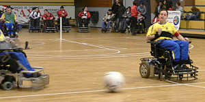 Playing Power chair football