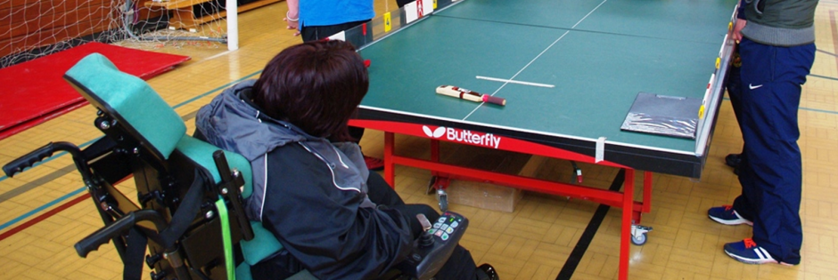 Children playing Table Cricket