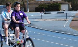 Liam on bike